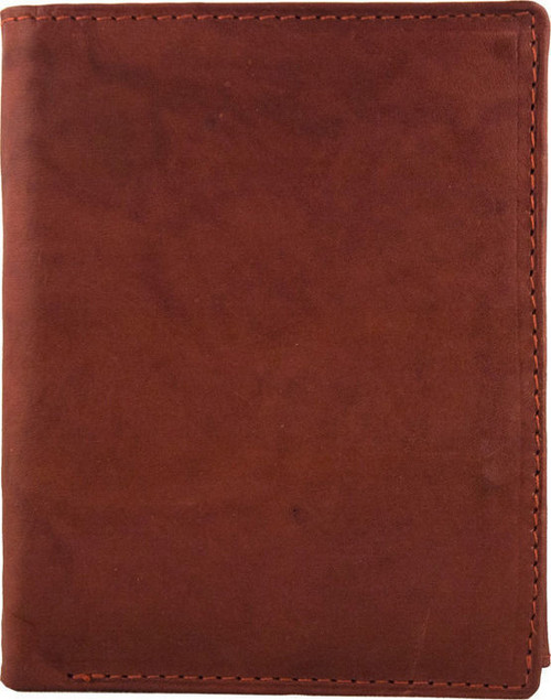 Natural Leather Tan Bi-fold Wallet
