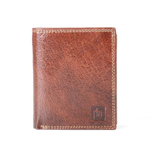 Prime Hide Prato RFID Blocking Brown Leather Multi Section Wallet