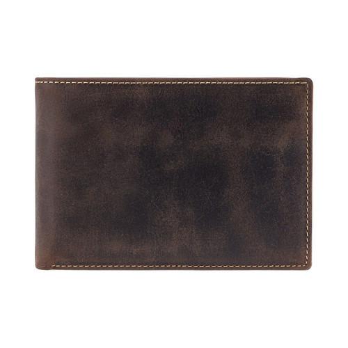 Visconti Jet Oil Bi-Fold Brown Leather Wallet