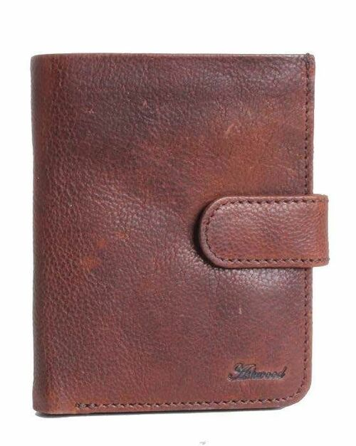 Ashwood Stratford Flipside 7 Card Tan Leather Wallet