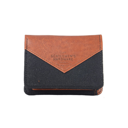 Wild & Wolf Gentlemen's Hardware Brown Canvas Wallet