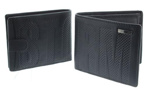 Storm Echo RFID Blocking Black Leather Wallet