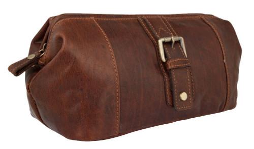 Primehide Brown Mahogany Leather Wash Bag bf060804508cc