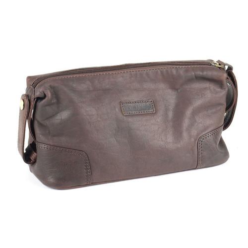 Prime Hide Elpaso Brown Leather Washbag