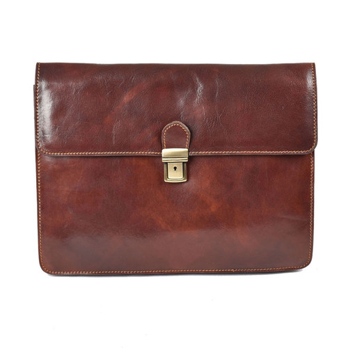 Delamore Brown Leather Underarm Business A4 Folder