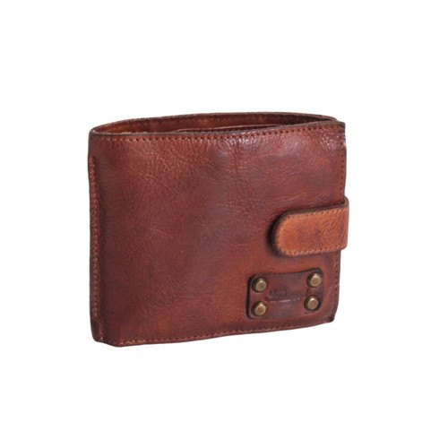 Ashwood Shoreditch Classic 8 Card Bill Rust Leather Fold Wallet