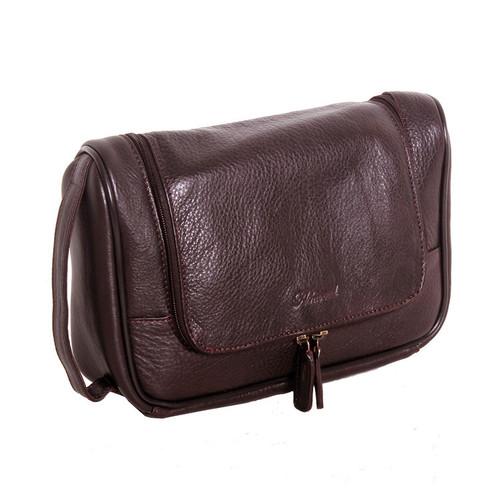 Ashwood Westminster 89145 Brown Leather Hanging Wash Bag