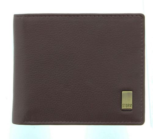 Storm Beckett RFID Blocking Brown Leather Wallet