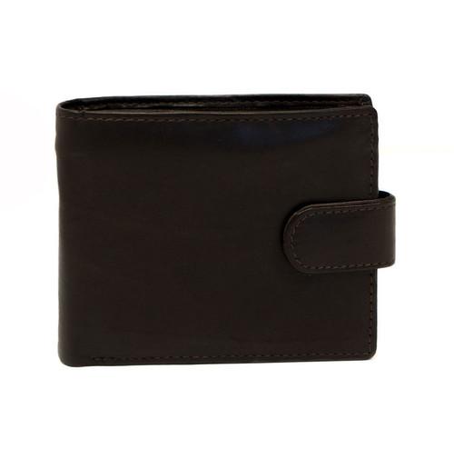 Delamore Dark Brown Leather Tab Wallet