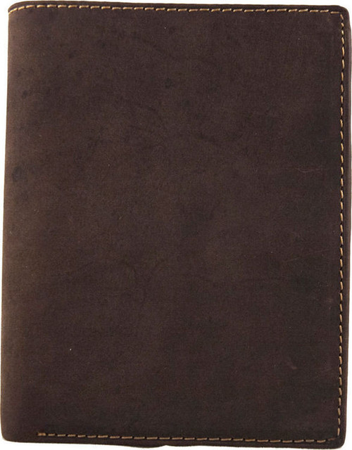 Visconti Brown Hunter Leather Bi-Fold Wallet
