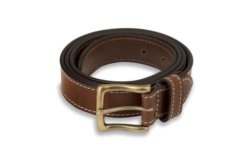 Woodland Leathers Brown Leather Buckle Belt
