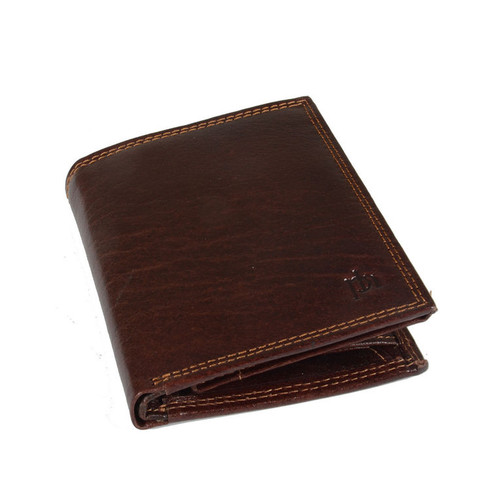 Prime Hide Prato RFID Brown Blocking Leather Identity Wallet