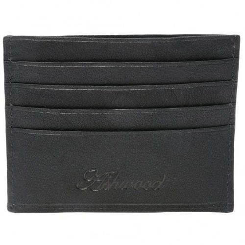Ashwood Kingston Black Leather Credit Card Wallet