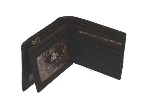 Rowallan Panama Brown Leather Standard Flip Out Wallet
