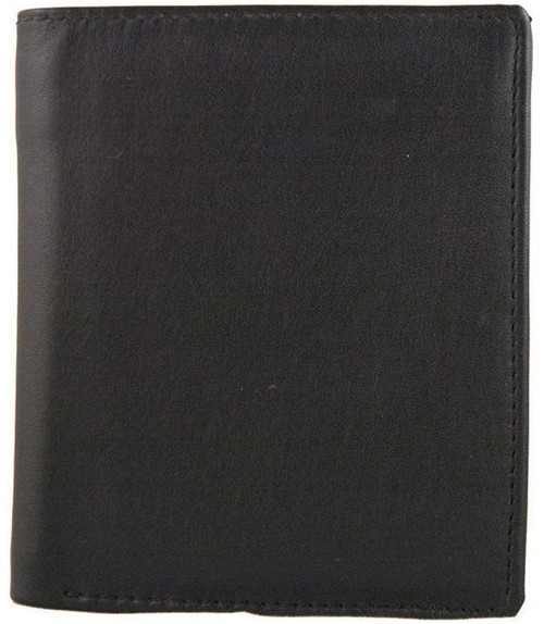 Marco Valenti Black Leather ID Wallet