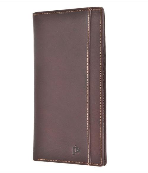 Prime Hide RFID Blocking Brown Leather Card Wallet