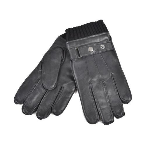 Ashwood Mens Rib Cuff 3 Point Leather Gloves