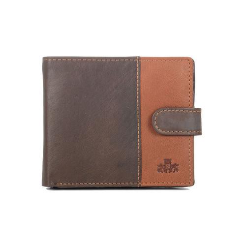 Rowallan Bronte Tabbed Brown Leather Wallet