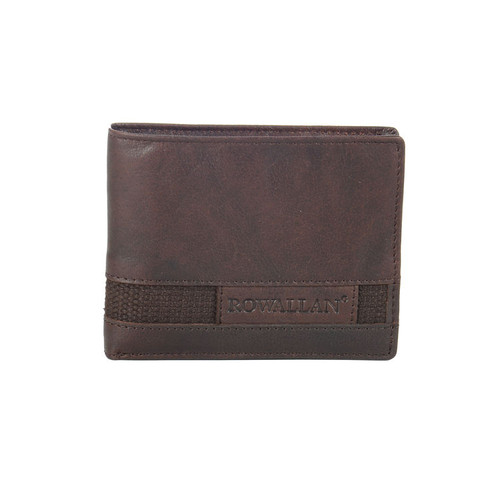 Rowallan Panama Brown Leather Standard Wallet