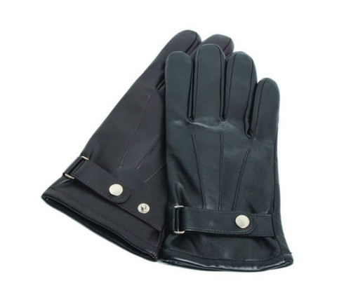 Ashwood Mens Classic Belted Leather Wrist Gloves