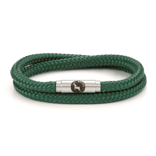 Boing Sea Green Double Wrap Stainless Steel Clasp Bracelet
