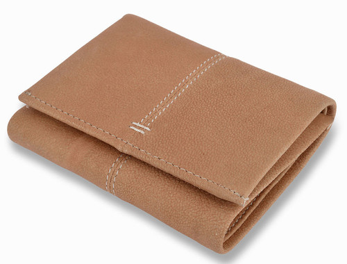 Woodland Leathers Soft Tan Leather Foldout Wallet
