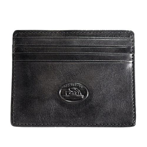Tony Perotti Italian Black Leather 8 Credit Card Wallet