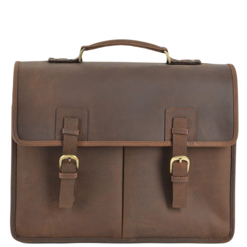 Ashwood Hammersmith Mens Triple Gusset Heavy Duty Leather Briefcase