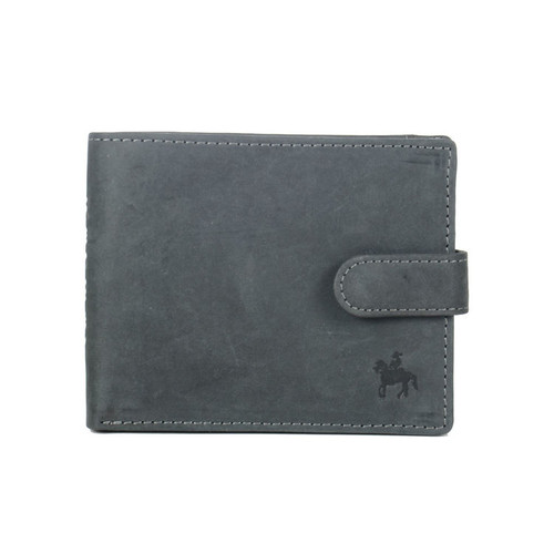 Prime Hide Ranger Black Leather Wallet