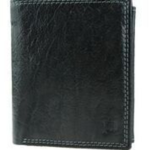 Prime Hide Prato RFID Blocking Black Leather Multi Section Wallet