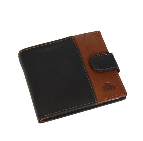 Rowallan Bronte Tabbed Black Leather Wallet