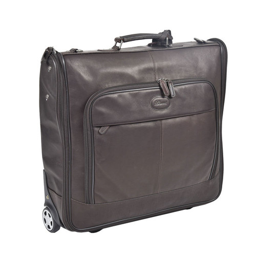 Ashwood Mayfair Wheeled Leather Brown Suit Carrier