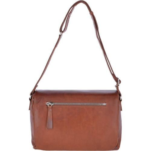Ashwood Oily Hunter Tan Leather Messenger Bag