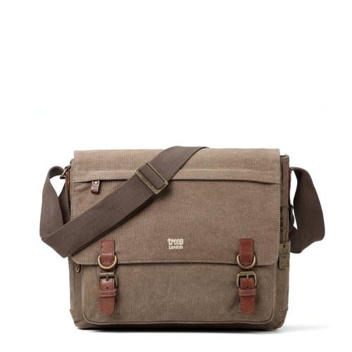 Troop London Classic Brown Canvas Flight Bag