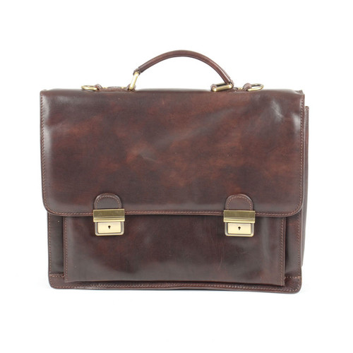 Delamore Executive Leather Dark Brown Business Briefcase