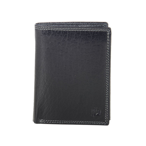 Prime Hide Prato RFID Black Blocking Leather Identity Wallet