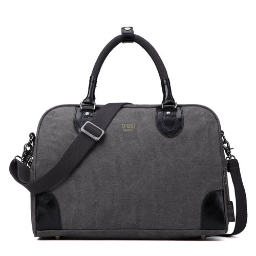 Troop London Small Black Classic Canvas Holdall