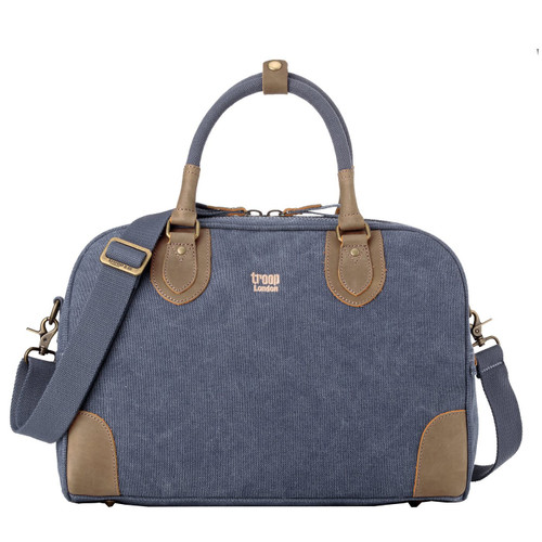 Troop London Small Blue Classic Canvas Holdall