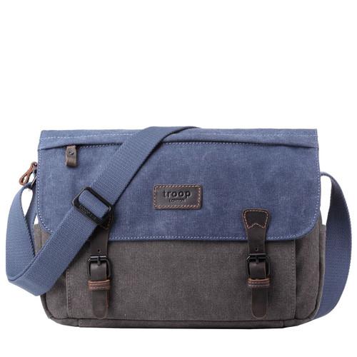 Troop Heritage Canvas Messenger Bag Blue