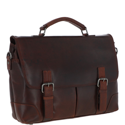 Austen & Co Tan Brown Leather Briefcase