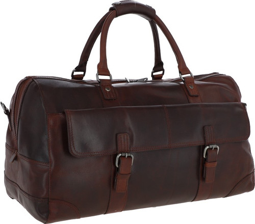 Austen & Co Tan Brown Leather Holdall Travel Bag