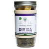 """'All in one"""" Oil and Salve.  Kit includes: 1 oz Clean Green certified hemp flowers, Vermont beeswax2 oz, jar, organic muslin straining bag, detailed directions inside label."""