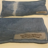 An entirely compostable hemp and herbal eye pillow made of 100% hemp and cotton thread.