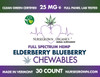 Elderberry Blueberry Vegan Hemp CBD Chewables,  30 count