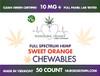 Sweet Orange Hemp Chewables, 50 count