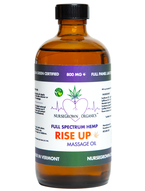 800mg Rise UP-Full Spectrum Hemp Flower Massage & Body Oil -Aromatherapy View on Storefront