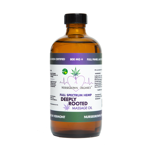 800mg Deeply Rooted-Full Spectrum Hemp Flower Massage & Body Oil -Aromatherapy