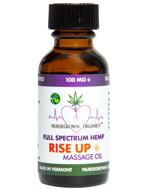 100mg Rise UP-Full Spectrum Hemp Flower Massage & Body Oil -Aromatherapy View on Storefront