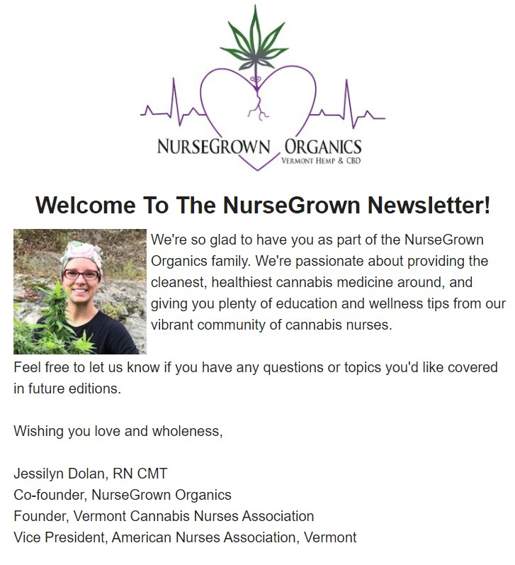 NurseGrown Organics Moonly Newsletter
