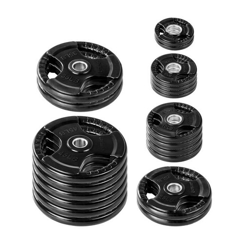 Lifeline 455 lb. Rubber Grip Olympic Plate Set- (LOCAL PICKUP ONLY)